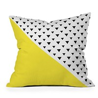 Allyson Johnson Chartreuse n triangles Throw Pillow