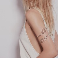 Hollow Flower Arm Bracelet