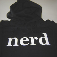 Nerd hoodie size Large or choice of SMLXL2XL3XL by geekthings