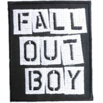 """FALL OUT BOY Logo Iron On Sew On Rock Emo Embroidered Patch pprox: 3""""/8cm x 2.5""""/6.5cm By MNC Shop"""