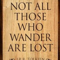 (11x17) Tolkien Not All Those Who Wander are Lost Literature Print Poster