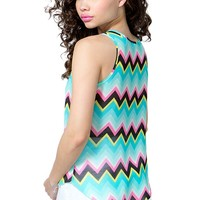 Bright Chevron Top