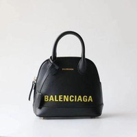 BALENCIAGA WOMEN'S LEATHER SMALL HANDBAG INCLINED SHOULDER BAG-KUYOU