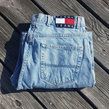Vtg TOMMY HILFIGER Jeans - Sz 34 - Made in USA - Classic!