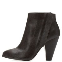 Qupid Chunky Heel Ankle Booties by Charlotte Russe
