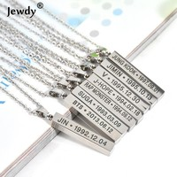 BTS Colar KPOP Necklace bts chokers necklaces for women Bangtan Collar Girl Fashion Jewelry Fans jewellery Steel BTS Pendant 90S