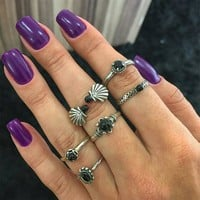Ring 6-pcs Vintage Gemstone Set [11856498447]