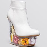 Jeffrey Campbell Platform Wedge Booties - Icy Doughnuts