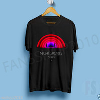 3OH!3 NIGHT SPORTS HEAR ME NOW FREAK YOUR MIND Electronic music Black T Shirt