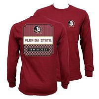 Southern Couture Florida State Seminoles Preppy Frame Long Sleeve T-Shirt