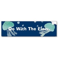 Go With The Flow Bumper Sticker from Zazzle.com