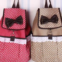 Sweet Lace Canvas Backpack