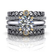 Solitaire Engagement Ring - Diamond Wedding Bands - Insieme™ Bridal Stackables - Customize Your Ring