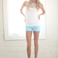 Hot For you Summer Shorts Baby Blue