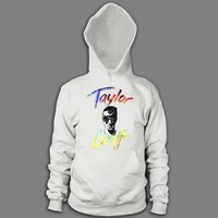 Tie-Dye Text White : TCNF : Taylor Caniff