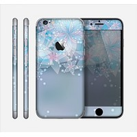 The Translucent Glowing Blue Flowers Skin for the Apple iPhone 6