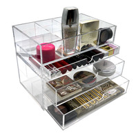 PuTwo Makeup Organiser High Quality 5mm Thick Acrylic Makeup Storage Drawer Organiser