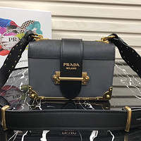 PRADA WOMEN'S LEATHER CAHIER INCLINED SHOULDER BAG