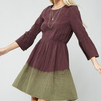 Ombre Pocketed Midi Dress