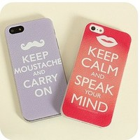 Moustache and Lips iPhone Cases for Couple