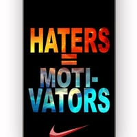 Nike Haters Motivation Nebula Galaxy for iPhone 4/4S Case *
