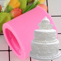 3D Wedding Cake Pumpkin Car Silicone Candle Mold Resin Clay Soap Molds Fondant Cake Decorating Chocolate Candy Moulds