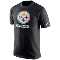 NFL Pittsburgh Steelers Nike Facility Black Cotton Shirt