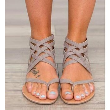 THE EUROPEAN ROME STYLE SANDALS