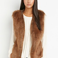 Side-Paneled Faux Fur Vest