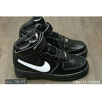Nike Air Force One classic in the help plate shoes F-HAOXIE-ADXJ Black + white hook