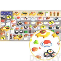 Super Cute Conveyor Belt Sushi Shaped Food Themed Puffy Stickers for Scrapbooking