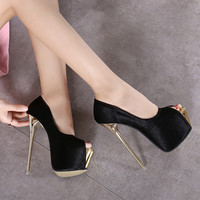 Stylish Summer Design High Heel Peep Toe Sandals = 4804961284