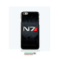 Custom Mass Effect N7 Case for Custom Phone Case for iPhone 4/4s, 5/5s, 6, 6+, iPod Touch 5