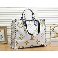 LV hot selling fashionable lady casual patchwork print single shoulder shopping bag #3