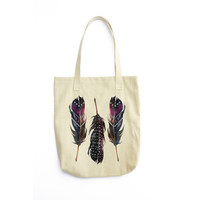 Free Bird Feathers Tote