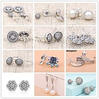925 Sterling Silver Vintage Allure Stud Earrings for women Autumn collection earings brinco fine jewelry Jewyuer ER051