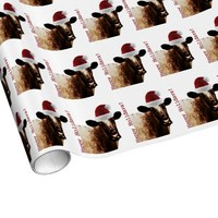 Holiday Cow Wrapping Paper