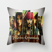 Pirates of the caribbean Throw Pillow by Giftstore2u