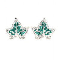 alexander mcqueen - crystal-embellished earrings