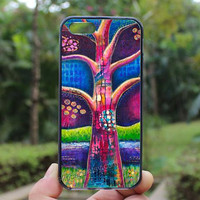 Tree of Love,Flower Tree,iphone 4 case,iPhone4s case, iphone 5 case,iphone 5c case,Gift,Personalized,water proof
