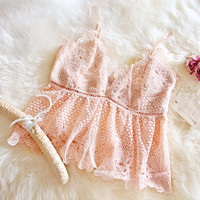 Peaches & Lace Top