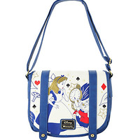Loungefly Disney Alice In Wonderland Crossbody Double Buckle Bag