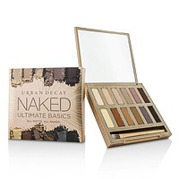 Naked Ultimate Basics Eyeshadow Palette: 12x Eyeshadow, 1x Doubled Ended Blending and Smudger Brush - -