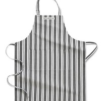 Williams Sonoma Stripe Adult Apron, Black