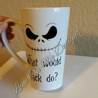 Jack Skellington Mug, Nightmare Before Christmas Coffee Mug, Coffee mug, Halloween Mug, Jack Skeleton, Jack Skellington Gift, Gift