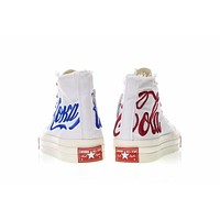 KITH x Coca-Cola x Converse Chuck Taylor All Star 1970S White&Blue&Red Sneaker 162986C