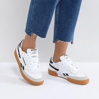 Reebok Classic Revenge Plus Trainers In White And Navy at asos.com