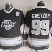 Kids Los Angeles Kings Hockey Jerseys #99 Wayne Gretzky Jersey Black Authentic Youth jersey Stitched Jersey Cheap