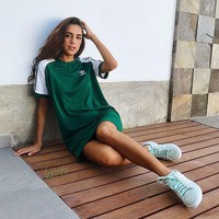 adidas Originals Womens Raglan Dress - Green