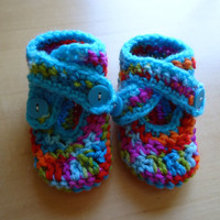 Crochet baby girl shoes, baby booties, toddler shoes, newborn sandals, ready to ship